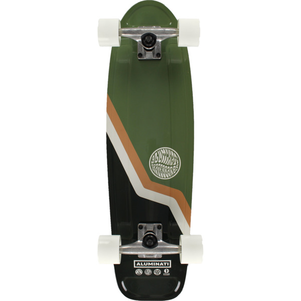 "Aluminati Skateboards Van Jerry Green Cruiser Complete Skateboard - 8.12"" x 28"""