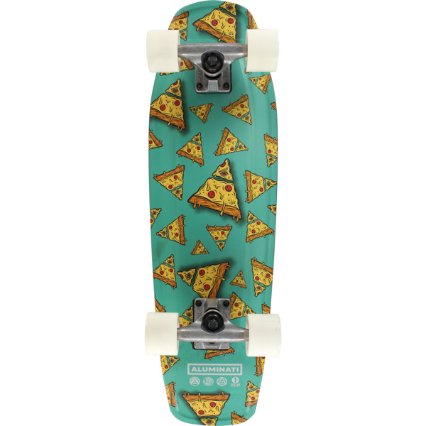 "Aluminati Skateboards Zaaa Tombstone Cruiser Complete Skateboard - 8"" x 28"""