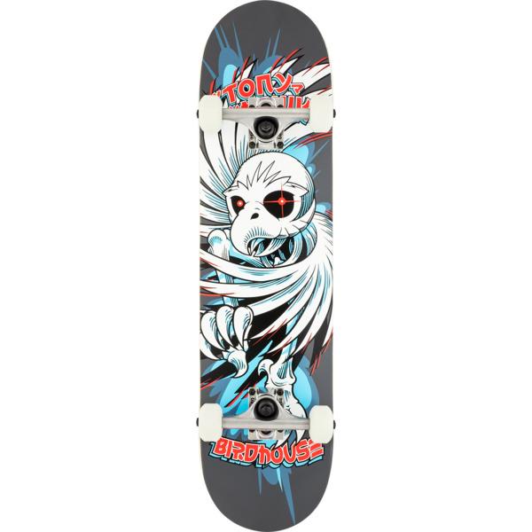 "Birdhouse Skateboards Tony Hawk Spiral Grey Complete Skateboard - 7.75"" x 31.25"""