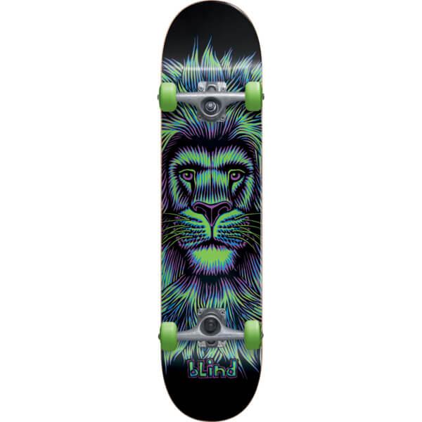 "Blind Skateboards Lion Black / Neon Complete Skateboard - 7.62"" x 31.7"""