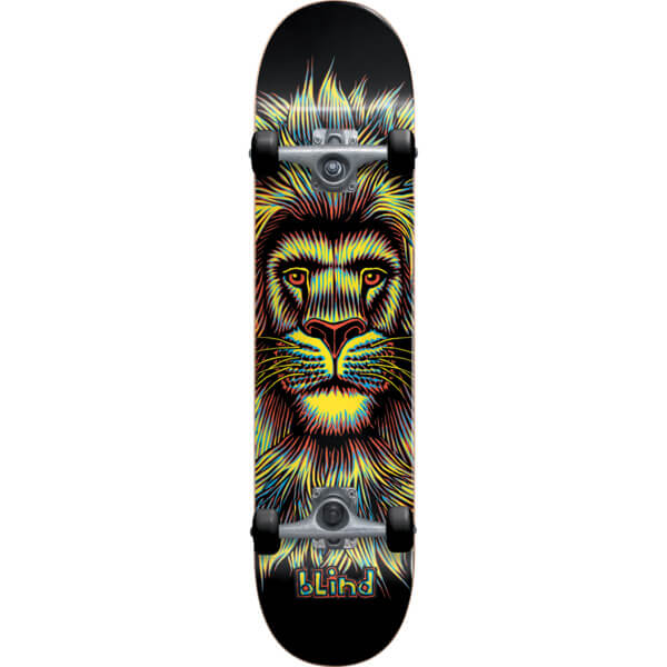 "Blind Skateboards Lion Black / Yellow Complete Skateboard - 7.75"" x 31.7"""