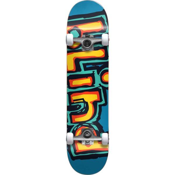 """Blind Skateboards Matte OG Logo Bright Red / Teal Complete Skateboard First Push - 7.75"""" x 31.2"""""""