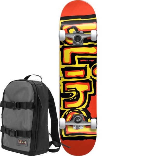 """Blind Skateboards Matte OG Red Complete Skateboard With Backpack - 7.75"""" x 31.75"""""""