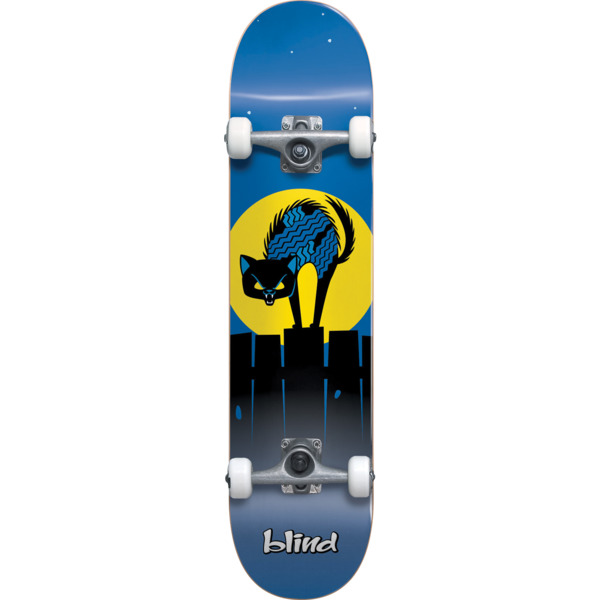 "Blind Skateboards Nine Lives Blue Micro Complete Skateboard Softtop - 6.75"" x 28.8"""