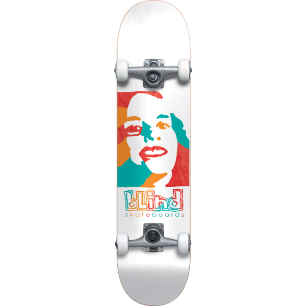 "Blind Skateboards Psychedelic Girl White Complete Skateboard - 7.75"" x 31.2"""