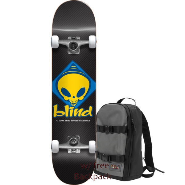 "Blind Skateboards Retro Reaper Scout Black Complete Skateboard Includes Free Backpack! - 7.75"" x 31"""