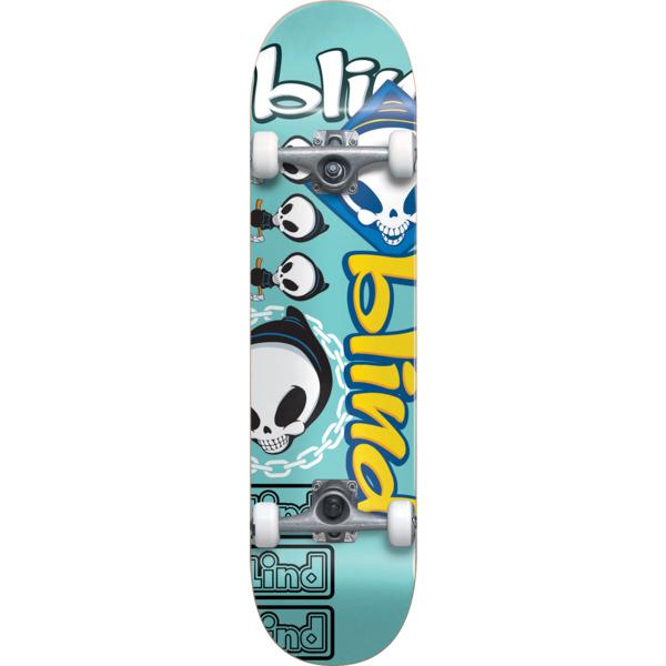 """Blind Skateboards Tantrum Teal Complete Skateboard First Push - 8"""" x 31.6"""""""