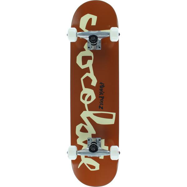 "Chocolate Skateboards Stevie Perez OG Chunk WR40D1 Mid Complete Skateboards - 7.62"" x 31"""