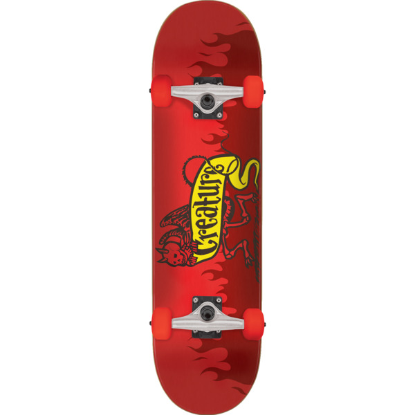 "Creature Skateboards Imp Red Mid Complete Skateboards - 7.5"" x 30.6"""