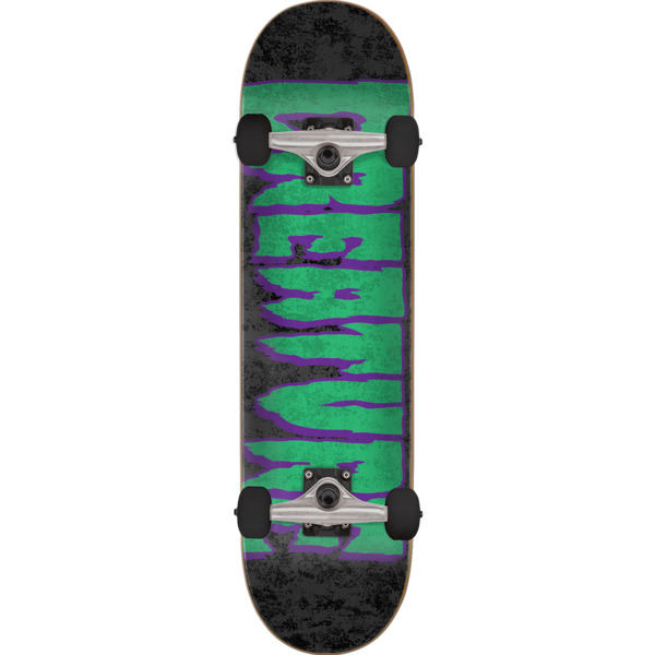 "Creature Skateboards Logo Corrode Black / Green / Purple Complete Skateboard - 8.25"" x 31.8"""