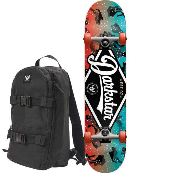 "Darkstar Skateboards Ranger Red / Blue Mini Complete Skateboard includes a Free Backpack - 7"" x 31.6"""
