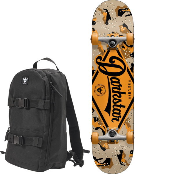 "Darkstar Skateboards Ranger Orange Mini Complete Skateboard Includes Free Backpack! - 7"" x 29.08"""