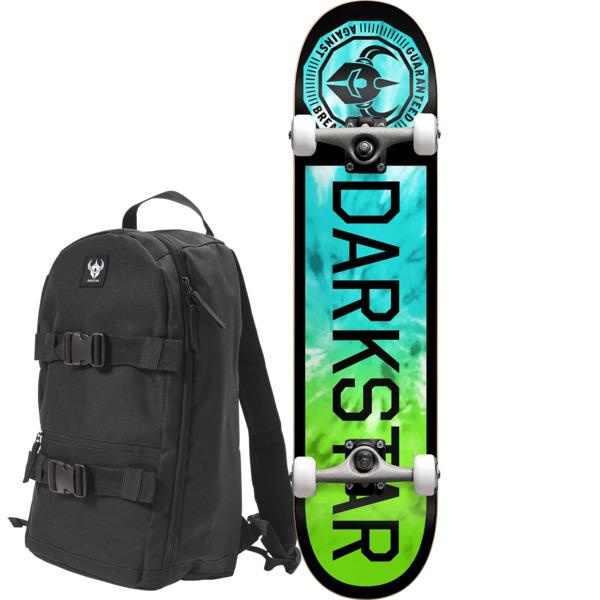 "Darkstar Skateboards Timeworks Black / Tie Dye Complete Skateboard includes a Free Backpack - 7.75"" x 31.2"""