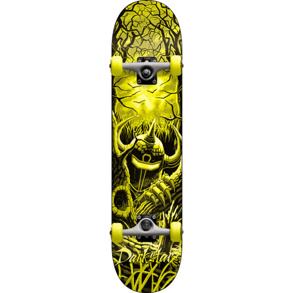 "Darkstar Skateboards Woods Yellow Mini Complete Skateboard - 7"" x 29"""