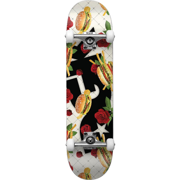 "DGK Skateboards Junk Food Mid Complete Skateboards - 7.5"" x 30.5"""