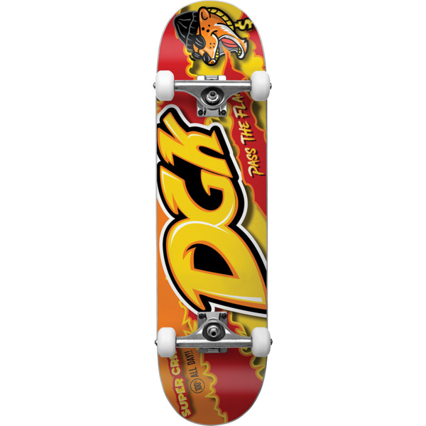 "DGK Skateboards Pass the Flame Mid Complete Skateboards - 7.5"" x 31"""