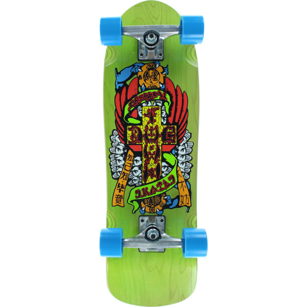 eae16e2b38 Dogtown Skateboards Eric Dressen Mini Hands Transparent Green Cruiser  Complete Skateboard - 8.6 x 28.5 - Warehouse Skateboards