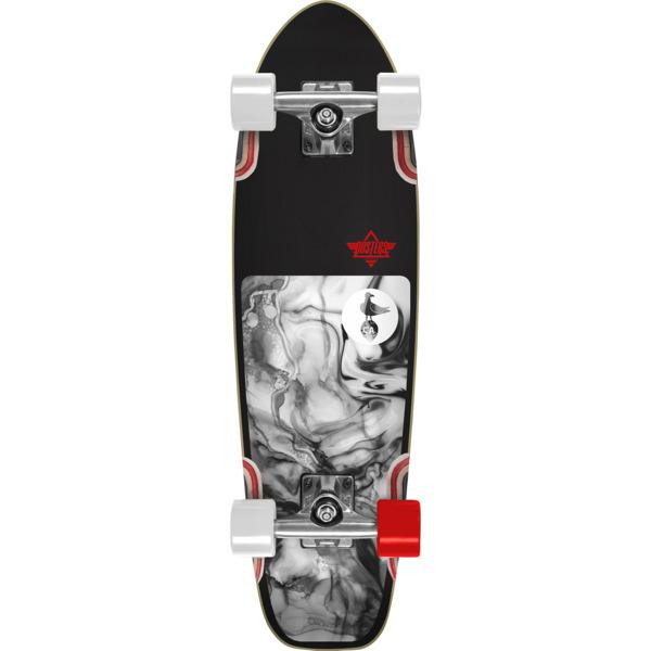 "Dusters California Skateboards Bird Lava Black / White Cruiser Complete Skateboard - 7"" x 25"""