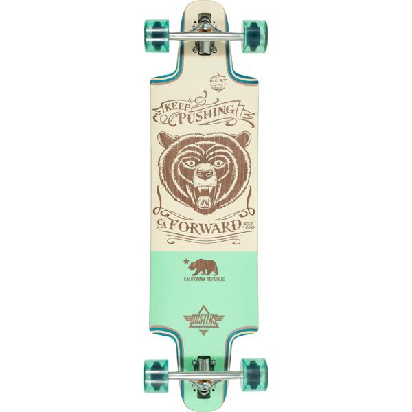 """Dusters California Skateboards Kodiac Neo Mint Longboard Complete Skateboard - 9.5"""" x 36"""""""