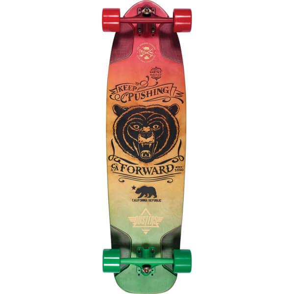 """Dusters California Skateboards Kodiac Rasta Longboard Complete Skateboard - 9.75"""" x 36"""""""