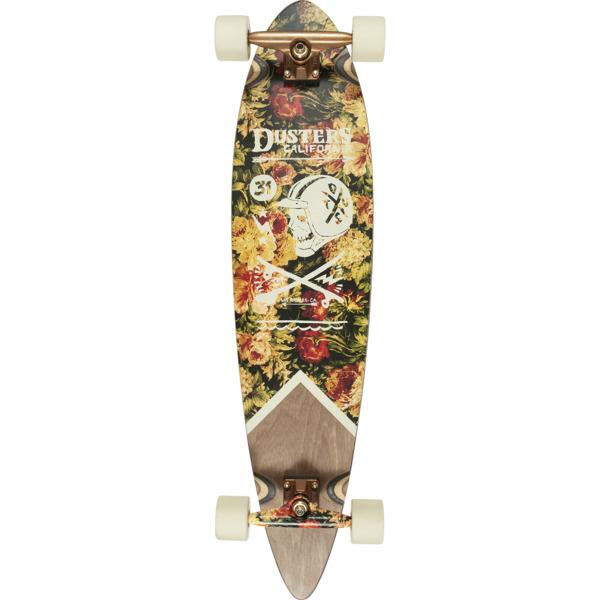 """Dusters California Skateboards Moto Rises Maroon Longboard Complete Skateboard - 8.75"""" x 37"""""""
