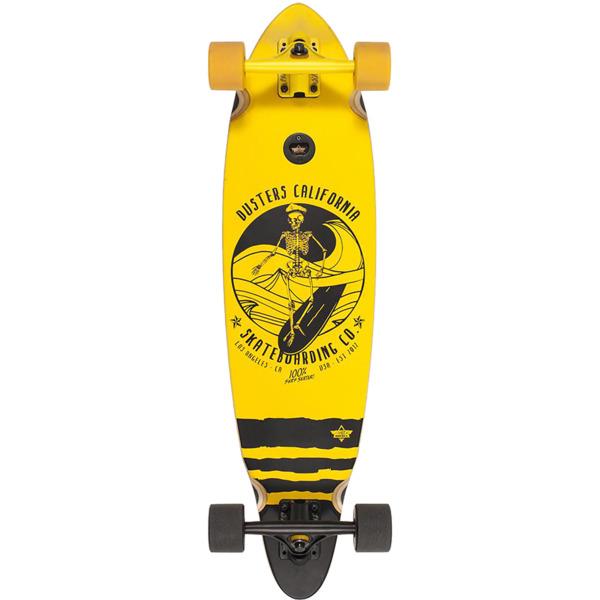 """Dusters California Skateboards Skipper Yellow Longboard Complete Skateboard - 8.5"""" x 33"""""""