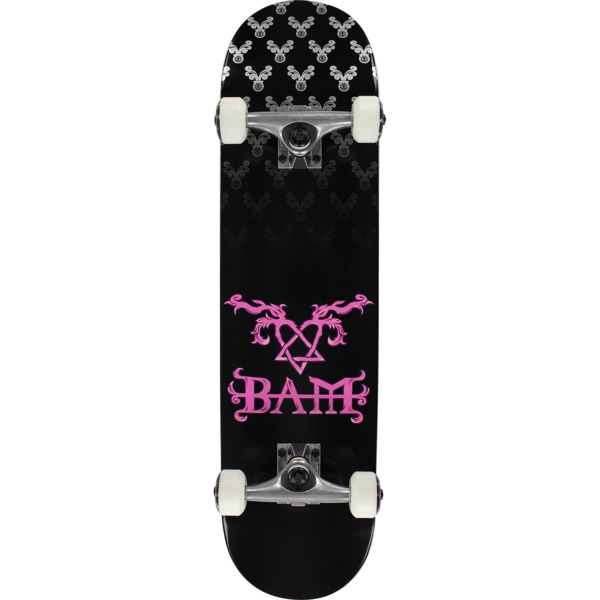 Element Skateboards Bam Margera Heartagram Black Complete Skateboard - 7.7  x 32 - Warehouse Skateboards c72562f1757