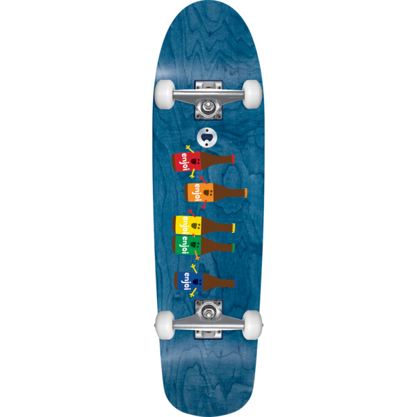 "Enjoi Skateboards Beer Run Blue Stain Cruiser Complete Skateboard - 8.5"" x 31.625"""