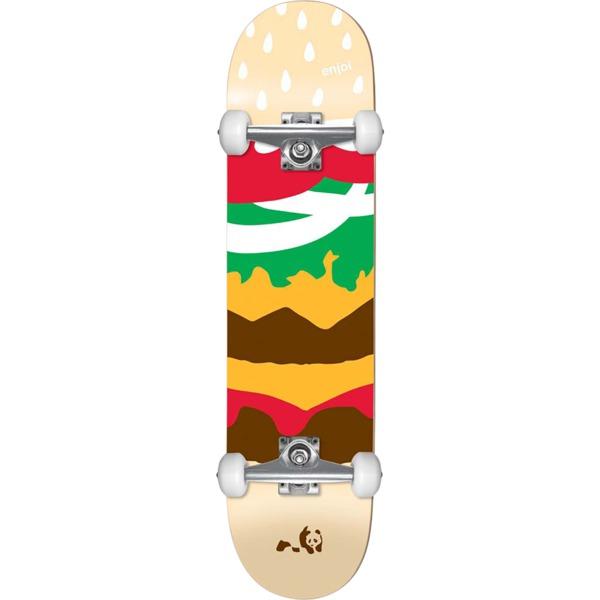 "Enjoi Skateboards Burger Time Mini Complete Skateboard First Push - 7.375"" x 29.8"""