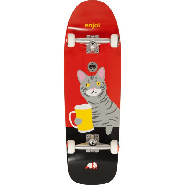 "Enjoi Skateboards Drinking Buddy Red Complete Skateboard - 9.62"" x 31"""