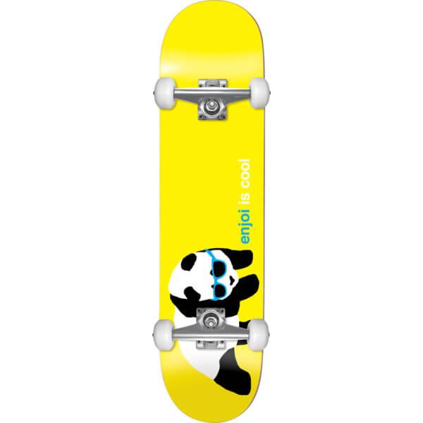 "Enjoi Skateboards Panda Shades Yellow Complete Skateboard - 7.5"" x 31"""
