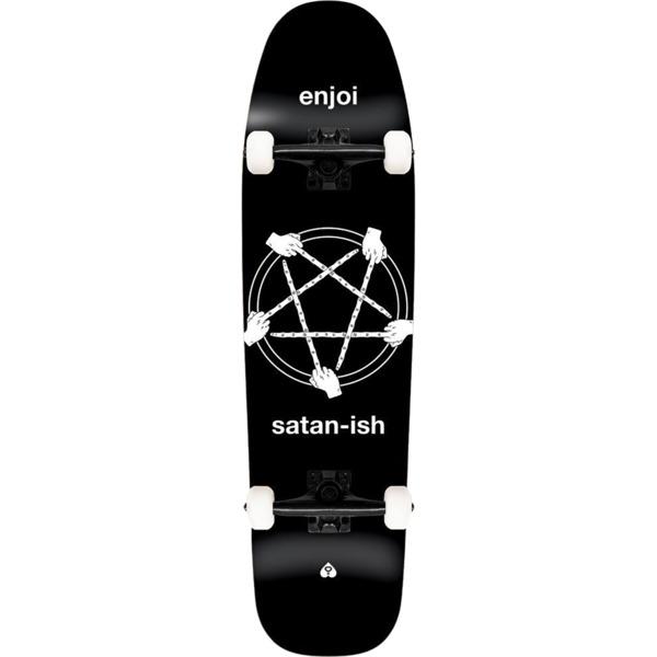 "Enjoi Skateboards Satan-ish Black Cruiser Complete Skateboard - 8.5"" x 32"""