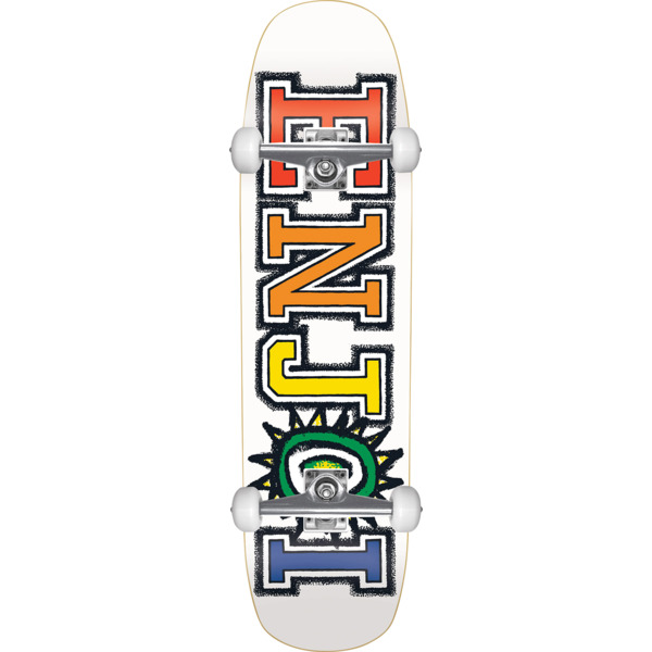 "Enjoi Skateboards What's the Deal White Cruiser Complete Skateboard - 8.5"" x 31"""