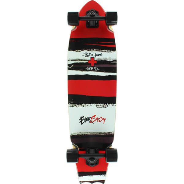 Eversesh Skateboards Doc Striped Batty Complete Longboard