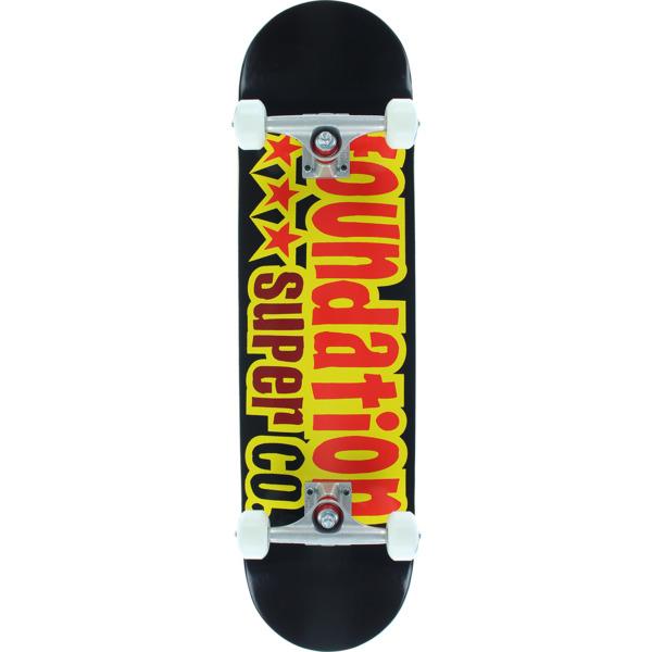 "Foundation Skateboards 3 Star Black Complete Skateboard - 8.1"" x 32"""