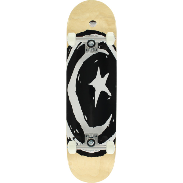 """Foundation Skateboards Star & Moon Square Assorted Stain / Black / White Complete Skateboard - 8.38"""" x 32.25"""""""