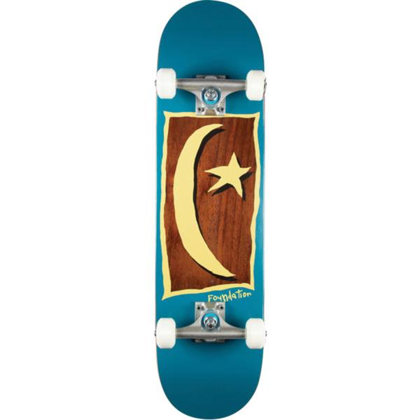 "Foundation Skateboards Star & Moon V2 Blue Complete Skateboard - 7.88"" x 32"""