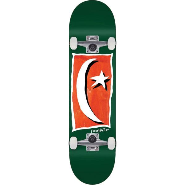 "Foundation Skateboards Star & Moon V2 Green Complete Skateboard - 8.13"" x 31.63"""