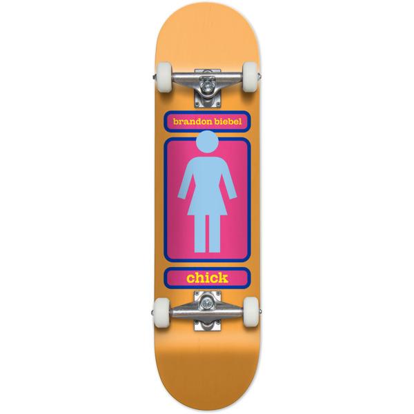"""Girl Skateboards Brandon Biebel 93 Til WR38 Mid Complete Skateboards - 7.5"""" x 31"""""""