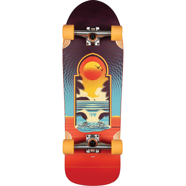 "Globe Aperture Cult of Freedom / Portal Cruiser Complete Skateboard - 9.5"" x 31"""