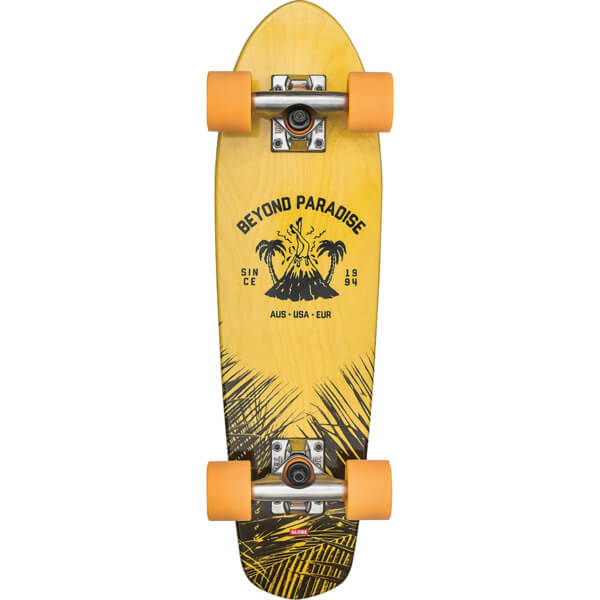 "Globe Bantam Evo Yellow / Blue Maple Cruiser Complete Skateboard - 6.75"" x 24"""