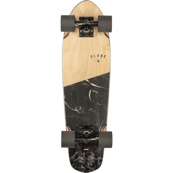 "Globe Blazer 26 Black Marble Cruiser Complete Skateboard - 7.25"" x 26"""