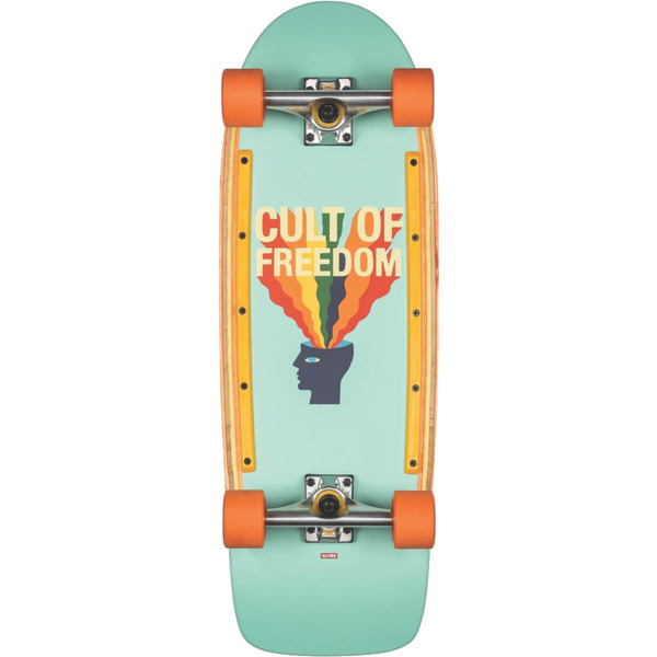 "Globe Burner Cult of Freedom / Explode Cruiser Complete Skateboard - 10"" x 30"""