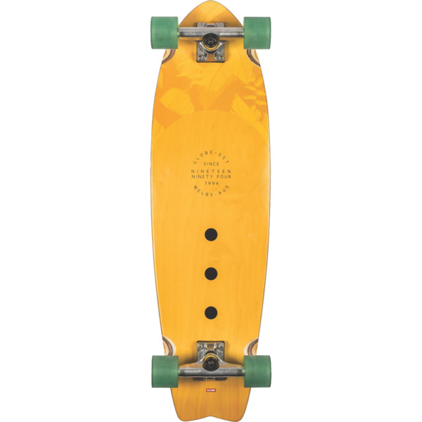 "Globe Chromantic Mustard Cruiser Complete Skateboard - 9.5"" x 33"""