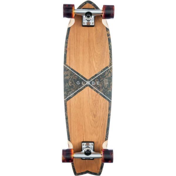 "Globe Chromantic Teak / Floral Couch Cruiser Complete Skateboard - 9.7"" x 33"""