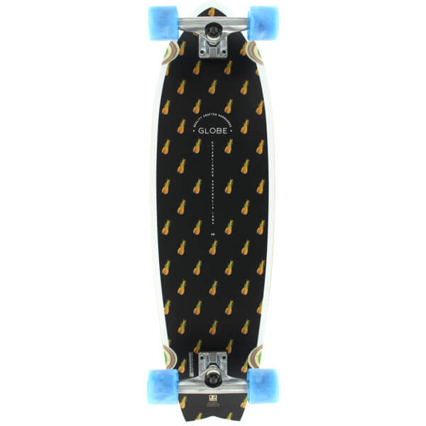 "Globe Chromantic Black / Pineapple / Bamboo Cruiser Complete Skateboard - 9.7"" x 33"""