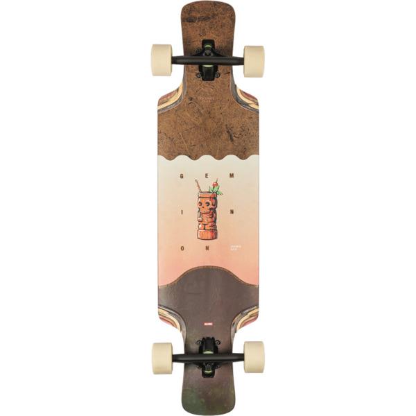 """Globe Geminon Kick Coconut / Tiki Longboard Complete Skateboard - 9.12"""" x 37.5"""""""