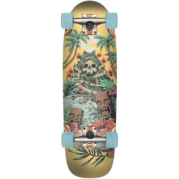 "Globe Outsider Fire Island By Day Cruiser Complete Skateboard - 8.25"" x 27.12"""