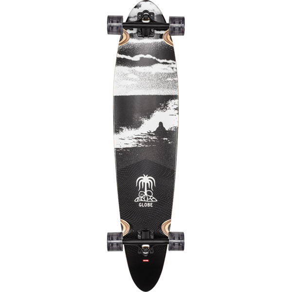 "Globe Pinner Classic Coconut / Black Tide Longboard Complete Skateboard - 9"" x 40"""