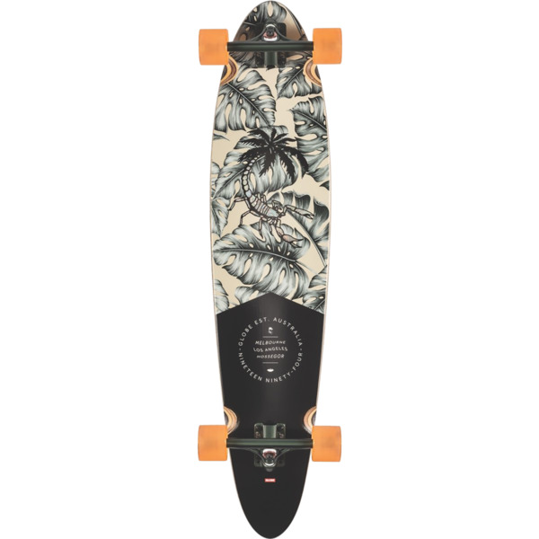 """Globe Pinner Classic Hurricane Leave Longboard Complete Skateboard - 9"""" x 40"""""""